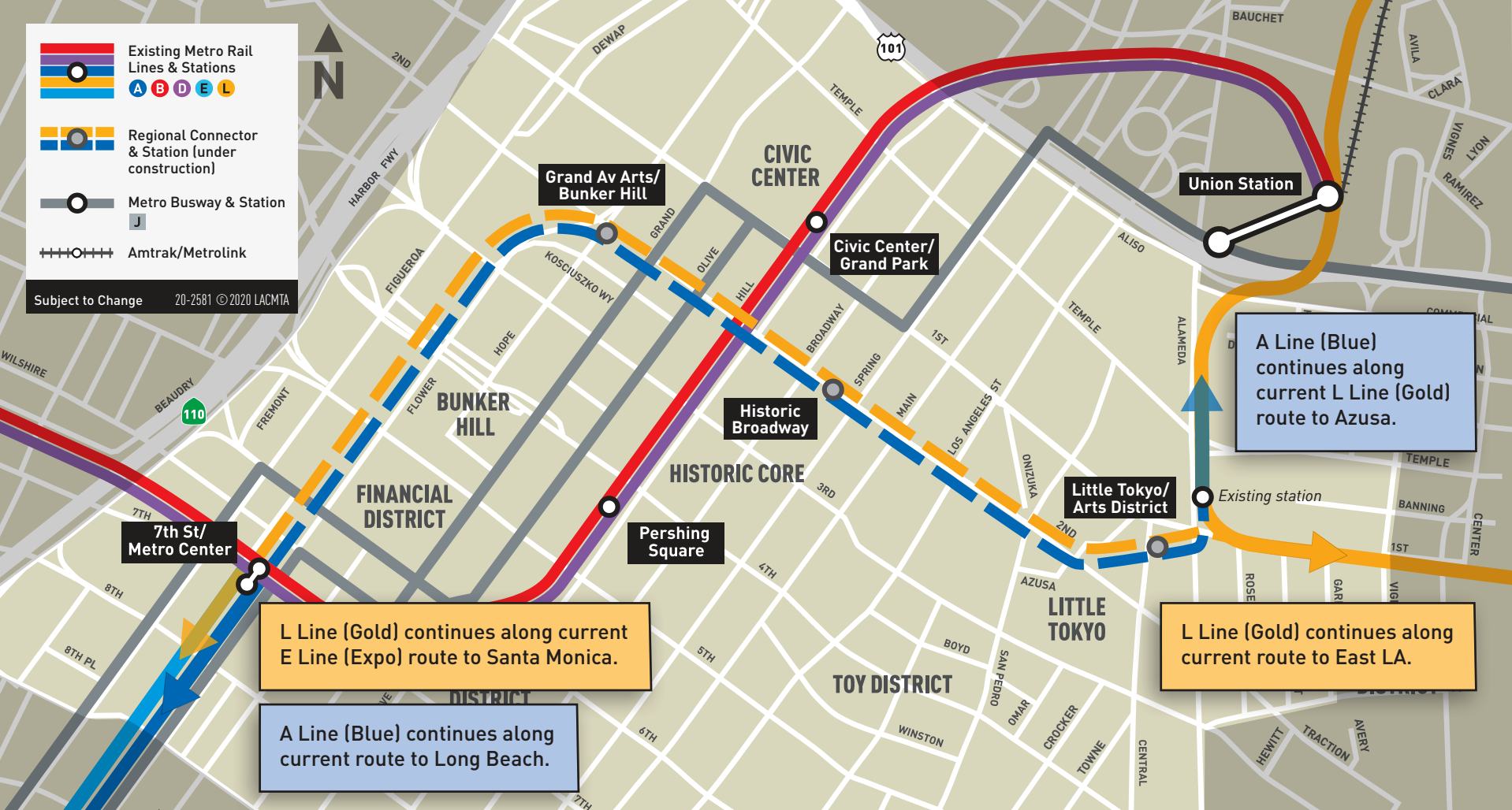 Regional Connector Transit Project Map