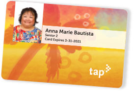 Colorful Metro TAP Card with customer photo