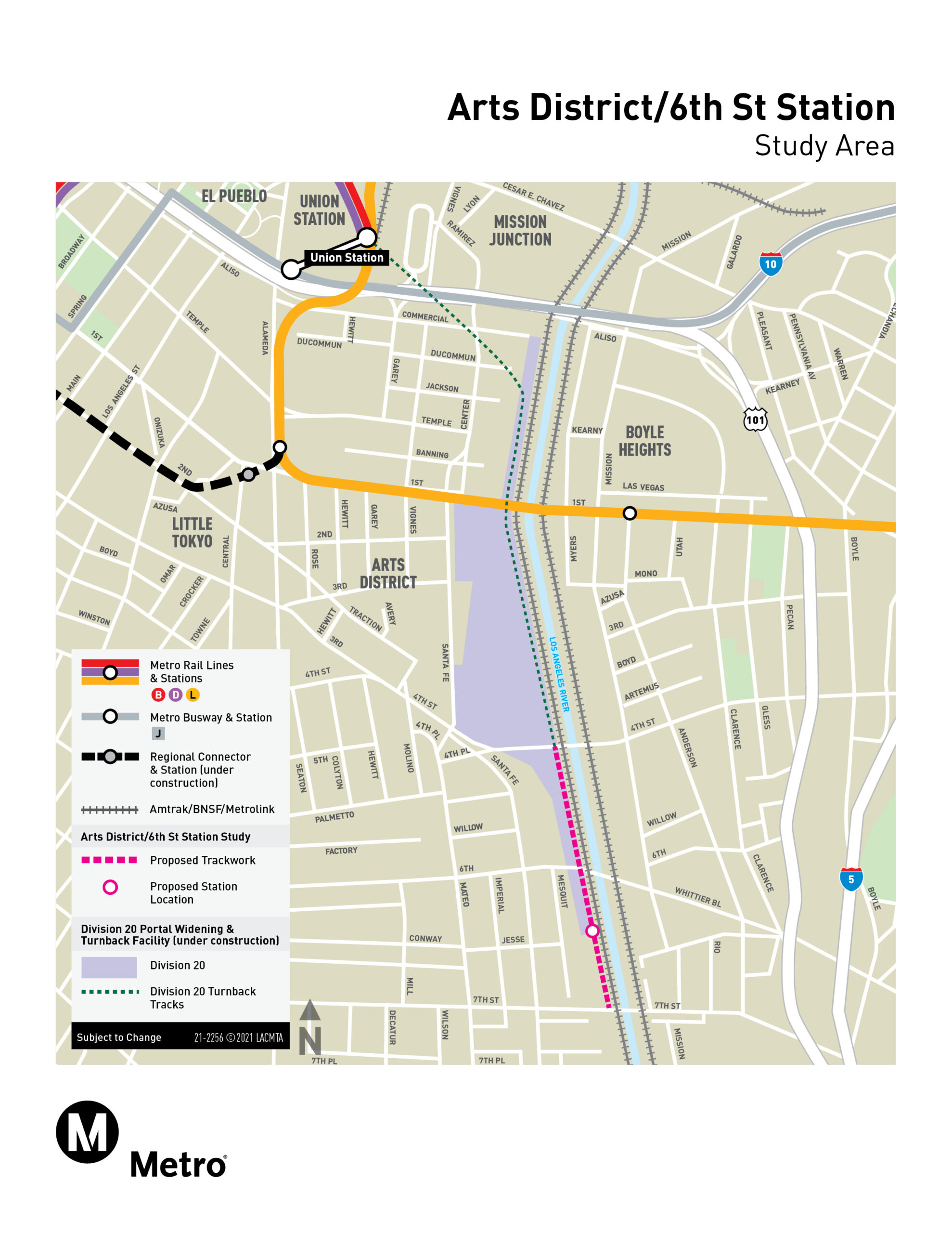 Arts District / 6th Street Station Project Map